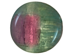 TU026<br>Brazilian Untreated Bi-color Cats-eye Tourmaline Min 6.00ct Mm Varies Mixed Shape Cabochon