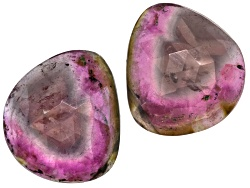 TW037<br>Matched Pair Of Saribia Tourmaline(Tm) Min 15ctw Mm Varies Faceted Free Form Shape/Size/Col