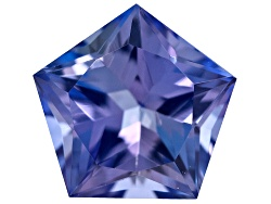 STT050<br>Tanzanite Min .75ct 6mm Pentagon Merelani Allure Cut(Tm)