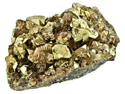SPC116<br>Chinese Chalcopyrite And Siderite Specimen.  Color, Shape And Size Will Vary.