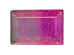 TU047<br>Brazilian Bi-color Tourmaline Min 2.00ct Mm Varies Rectangle Color Varies