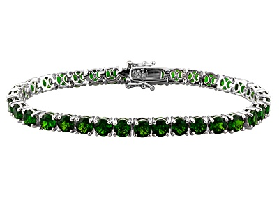 19 60ctw Round Russian Chrome Diopside Sterling Silver