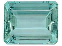 XTG4522<br>African Aquamarine 125.35ct 35.33x28.57x17.28mm Emerald Cut Comes With G.A.L.A. Certifica