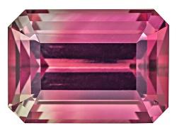 XTP4616<br>Nigerian Untreated Bi-color Tourmaline 5.02ct 11.35x8.16mm Emerald Cut