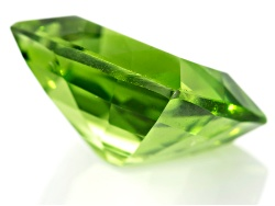 XTP1011<br>Burmese Strong Yellowish Green Peridot 6.05ct 11.75x10.14mm Rectangular Cushion With Gemw