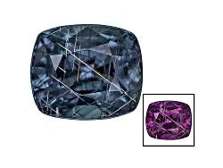 BGC296<br>Masasi Blue Color Change Garnet Min 1.25ct Mm Varies Rectangular Cushion