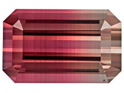 EXK689<br>Nigerian Bi-color Tourmaline 4.70ct 12.2x7.6mm Emerald Cut