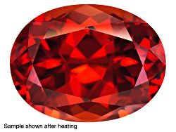 ZNV186<br>Nigerian Thermochromic Zircon Min 2.60ct Mm Varies Oval Color Varies Caution:heat Sensitiv