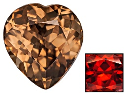 ZNH010<br>Nigerian Thermochromic Zircon Min 1.50ct Mm Varies Heart Shape Color Varies Caution:heat S