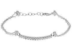 RRB192W<br>Remy Rotenier For Bella Luce (R) 1.58ctw Round Rhodium Plated Sterling Silver Bracelet