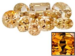 GP6221<br>Yellow Reserve Zircon Parcel Of 10.00ctw Mm Varies Mixed Shape Caution:heat Sensitive