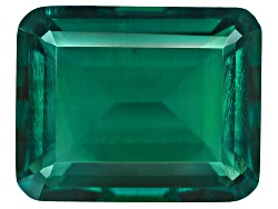 E3E054<br>Lab Created Hydrothermal Emerald Avg 3.40ct 10x8mm Emerald Cut