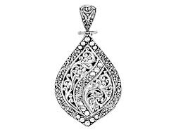 SRA326<br>Artisan Gem Collection Of Bali(Tm) Sterling Silver Filigree Pendant