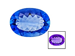 FL040<br>Color Change Blue Fluorite Minimum 21.00ct 22x16mm Oval Mixed Cut