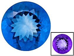 FL109<br>Color Change Blue Fluorite Minimum 40.00ct 22mm Round Mixed Cut