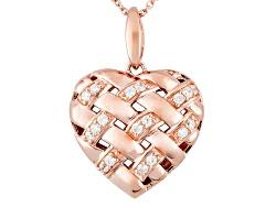 RRB257<br>Remy Rotenier For Bella Luce(R) 1.09ctw Eterno (Tm) Rose lattice Heart Pndt W/Chain (.54
