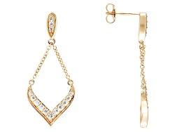 RRB296<br>Remy Rotenier For Bella Luce (R) 1.30ctw Eterno (Tm) Yellow swing Earrings (.69ctw Dew)