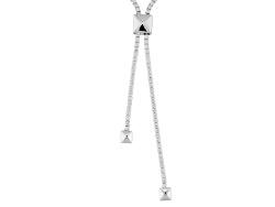 BJO289<br>Bella Luce (R) 23.81ctw Rhodium Over Sterling Silver Adjustable Necklace (10.95ctw Dew)