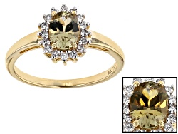 ZUL021<br>.65ct Oval Zultanite(R) And .16ctw Round White Diamonds 14k Yellow Gold Ring