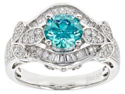 bella lucer esoticatm 381ctw paraiba tourmaline diamond simulants - Wedding Rings Under 200