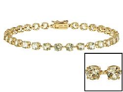 ZUL056<br>6.18ctw Round Zultanite(R) 14k Yellow Gold Bracelet