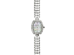 BLW15W<br>Bella Luce(R) Ladies 11.11ctw Round Mother Of Pearl Sterling Silver Watch