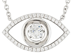 BJQ375<br>Bella Luce (R) 1.25ctw Rhodium Over Sterling Silver dancing Bella Evil Eye Necklace (.71