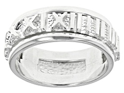 SVR684<br>Sterling Silver Spinner Numerals Ring
