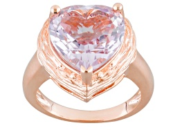 COP703<br>Timna Jewelry Collection(Tm) 6.45ct Heart Shape Orchid Amethyst Copper Ring